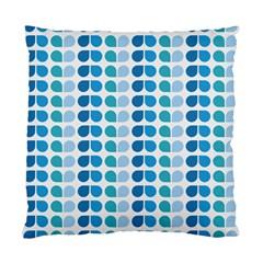 Blue Green Leaf Pattern Cushion Case (single Sided)