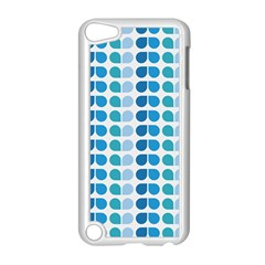 Blue Green Leaf Pattern Apple Ipod Touch 5 Case (white)