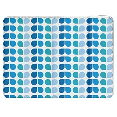 Blue Green Leaf Pattern Samsung Galaxy Tab 7  P1000 Flip Case
