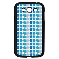 Blue Green Leaf Pattern Samsung Galaxy Grand Duos I9082 Case (black)