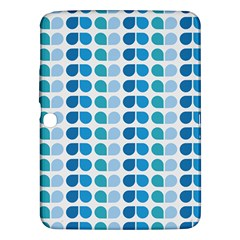 Blue Green Leaf Pattern Samsung Galaxy Tab 3 (10 1 ) P5200 Hardshell Case