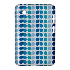 Blue Green Leaf Pattern Samsung Galaxy Tab 2 (7 ) P3100 Hardshell Case
