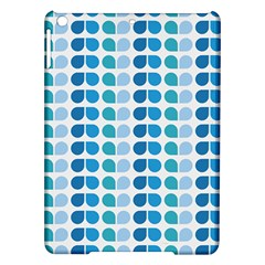 Blue Green Leaf Pattern Apple iPad Air Hardshell Case