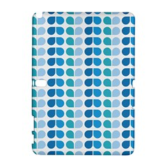 Blue Green Leaf Pattern Samsung Galaxy Note 10 1 (p600) Hardshell Case