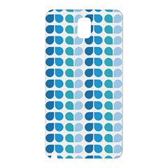 Blue Green Leaf Pattern Samsung Galaxy Note 3 N9005 Hardshell Back Case