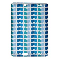 Blue Green Leaf Pattern Kindle Fire HD (2013) Hardshell Case