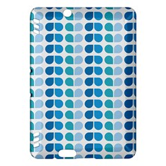 Blue Green Leaf Pattern Kindle Fire HDX Hardshell Case