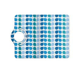 Blue Green Leaf Pattern Kindle Fire Hd (2013) Flip 360 Case