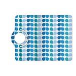 Blue Green Leaf Pattern Kindle Fire HD (2013) Flip 360 Case Front