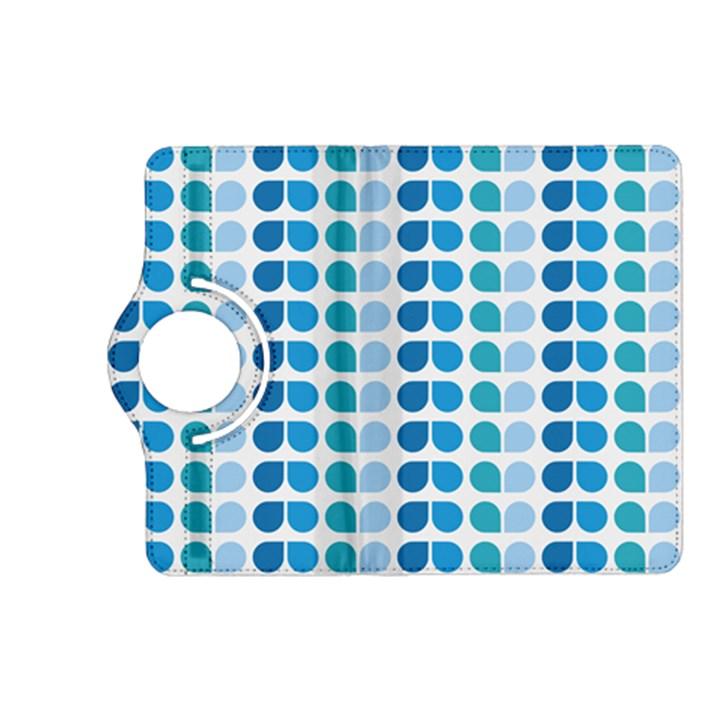 Blue Green Leaf Pattern Kindle Fire HD (2013) Flip 360 Case