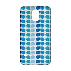 Blue Green Leaf Pattern Samsung Galaxy S5 Hardshell Case