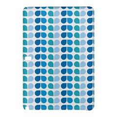 Blue Green Leaf Pattern Samsung Galaxy Tab Pro 10 1 Hardshell Case