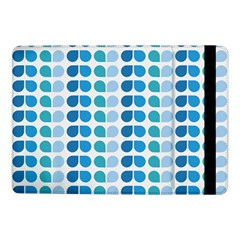 Blue Green Leaf Pattern Samsung Galaxy Tab Pro 10.1  Flip Case