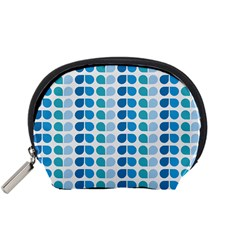 Blue Green Leaf Pattern Accessory Pouch (small)
