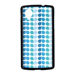 Blue Green Leaf Pattern Google Nexus 5 Case (Black)