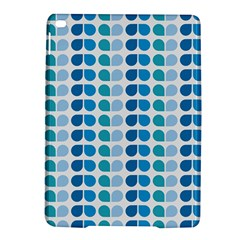 Blue Green Leaf Pattern Apple iPad Air 2 Hardshell Case