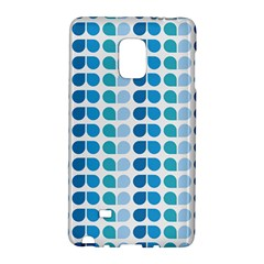 Blue Green Leaf Pattern Samsung Galaxy Note Edge Hardshell Case