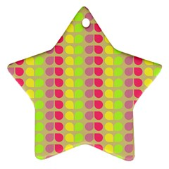 Colorful Leaf Pattern Star Ornament
