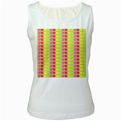 Colorful Leaf Pattern Women s Tank Top (white)