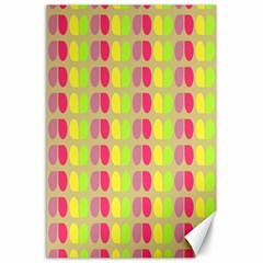 Colorful Leaf Pattern Canvas 24  X 36  (unframed)