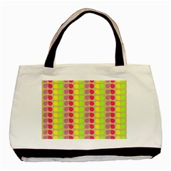 Colorful Leaf Pattern Twin Sided Black Tote Bag