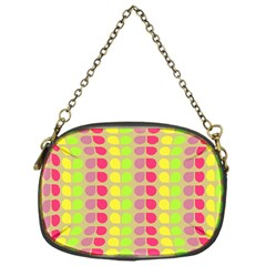 Colorful Leaf Pattern Chain Purse (one Side)