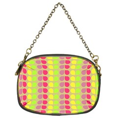 Colorful Leaf Pattern Chain Purse (two Sided)