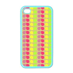 Colorful Leaf Pattern Apple Iphone 4 Case (color)