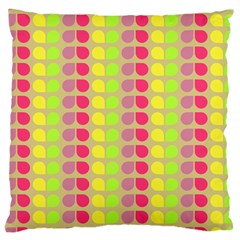 Colorful Leaf Pattern Large Cushion Case (two Sided)