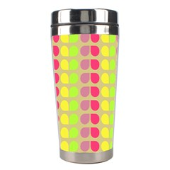Colorful Leaf Pattern Stainless Steel Travel Tumbler