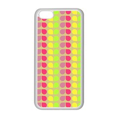 Colorful Leaf Pattern Apple Iphone 5c Seamless Case (white)