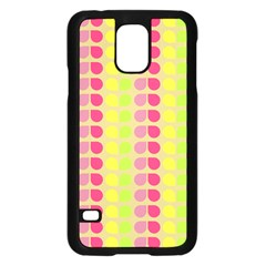Colorful Leaf Pattern Samsung Galaxy S5 Case (Black)