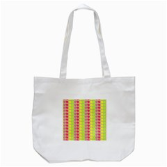 Colorful Leaf Pattern Tote Bag (White)