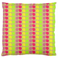 Colorful Leaf Pattern Large Flano Cushion Case (One Side)