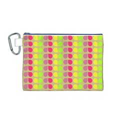 Colorful Leaf Pattern Canvas Cosmetic Bag (medium)