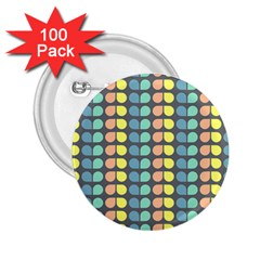 Colorful Leaf Pattern 2 25  Button (100 Pack)