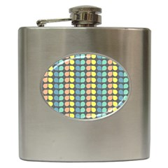 Colorful Leaf Pattern Hip Flask
