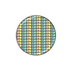 Colorful Leaf Pattern Golf Ball Marker 10 Pack (for Hat Clip)