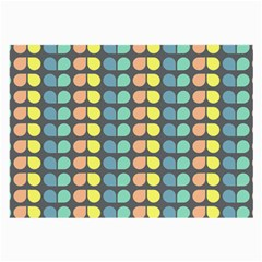 Colorful Leaf Pattern Glasses Cloth (large, Two Sided)