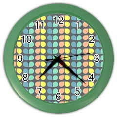 Colorful Leaf Pattern Wall Clock (color)