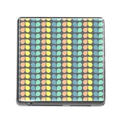 Colorful Leaf Pattern Memory Card Reader With Storage (square)