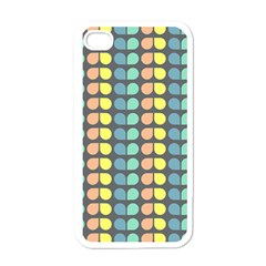 Colorful Leaf Pattern Apple Iphone 4 Case (white)