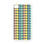Colorful Leaf Pattern Apple iPhone 4 Case (White) Front