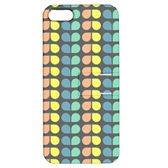 Colorful Leaf Pattern Apple Iphone 5 Hardshell Case With Stand