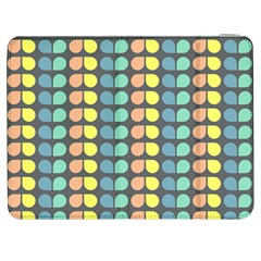 Colorful Leaf Pattern Samsung Galaxy Tab 7  P1000 Flip Case