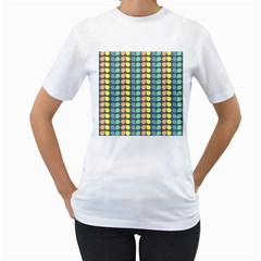 Colorful Leaf Pattern Women s T Shirt (white)