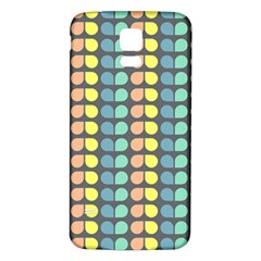 Colorful Leaf Pattern Samsung Galaxy S5 Back Case (White)