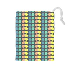 Colorful Leaf Pattern Drawstring Pouch (Large)