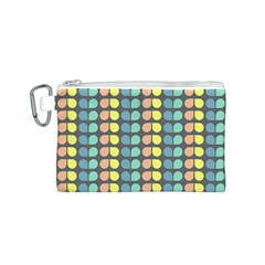 Colorful Leaf Pattern Canvas Cosmetic Bag (Small)