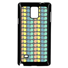 Colorful Leaf Pattern Samsung Galaxy Note 4 Case (Black)